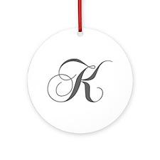 K-cho gray Ornament (Round)