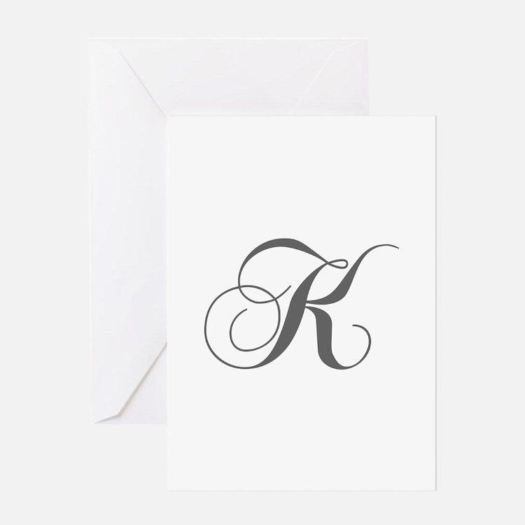 K-cho gray Greeting Cards