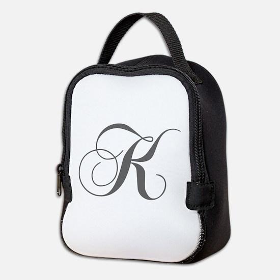K-cho gray Neoprene Lunch Bag