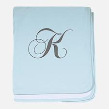 K-cho gray baby blanket