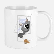 Cat Catching Mouse Mugs