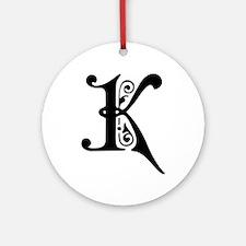 K-pre black Ornament (Round)