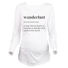 Wanderlust Definition Long Sleeve Maternity T-Shir