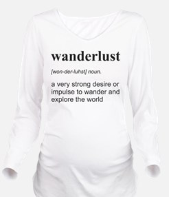 Wanderlust Definition Long Sleeve Maternity T-Shir