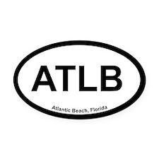 Atlantic Beach Oval Car Magnet