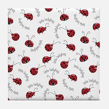 Little Red Ladybugs Tile Coaster