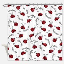 Little Red Ladybugs Shower Curtain