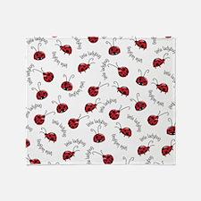 Little Red Ladybugs Throw Blanket