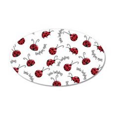 Little Red Ladybugs Wall Decal