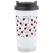 Little Red Ladybugs Travel Mug