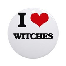 I love Witches Ornament (Round)