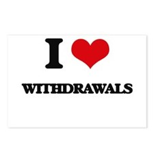 I love Withdrawals Postcards (Package of 8)