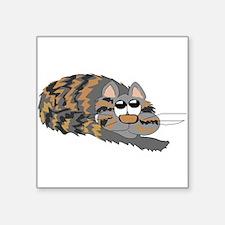 Cat Curled Up Sticker