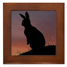 Sunrise Bunny Framed Tile