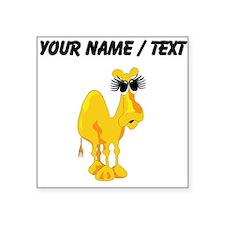 Custom Big Eyelashes Camel Sticker