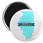 True Blue Illinois LIBERAL - Magnet