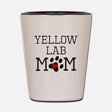 Yellow Lab Mom Shot Glass