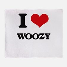 I love Woozy Throw Blanket