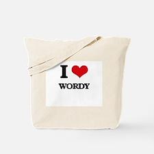 I love Wordy Tote Bag