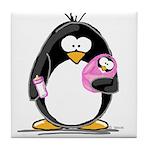 new baby girl Penguin Tile Coaster