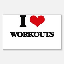 I love Workouts Decal
