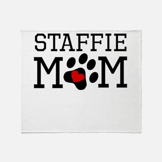 Staffie Mom Throw Blanket