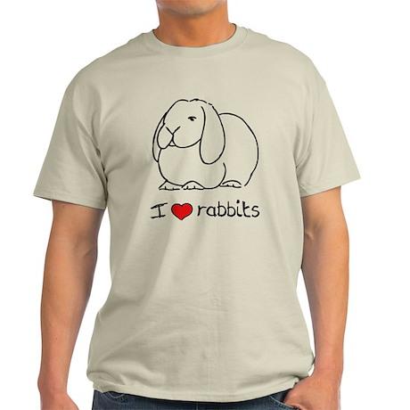 I Love Rabbits Light T-Shirt