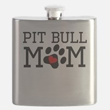 Pit Bull Mom Flask