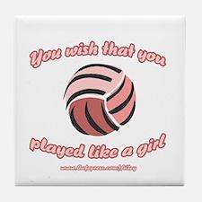 Volley Girl Tile Coaster