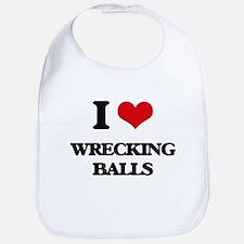 I love Wrecking Balls Bib