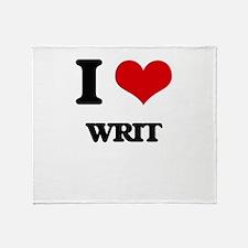 I love Writ Throw Blanket