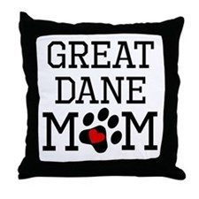 Great Dane Mom Throw Pillow