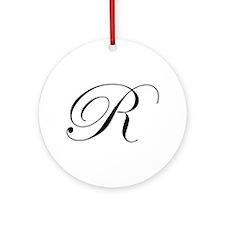 R-edw black Ornament (Round)