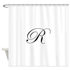 R-edw black Shower Curtain
