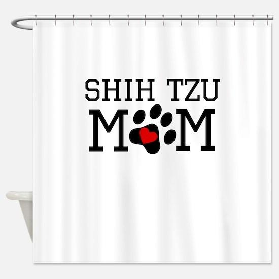 Shih Tzu Mom Shower Curtain