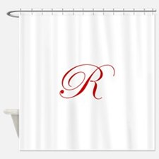R-edw red2 Shower Curtain