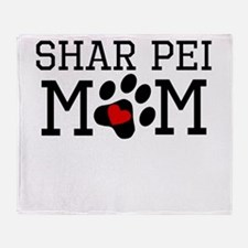 Shar Pei Mom Throw Blanket