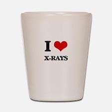 I love X-Rays Shot Glass