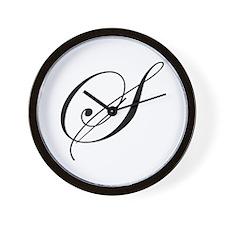 S-edw black Wall Clock