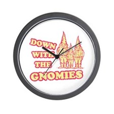 Down With the Gnomies Wall Clock