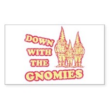 Down With the Gnomies Rectangle Decal