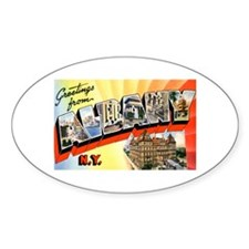 Albany New York Greetings Oval Decal