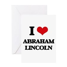 abraham lincoln Greeting Cards