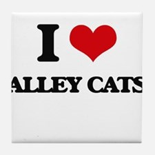 alley cats Tile Coaster