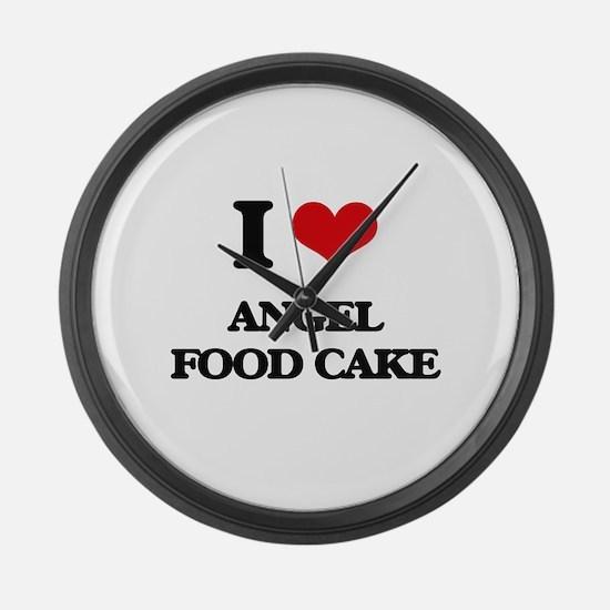 angel food cake Large Wall Clock