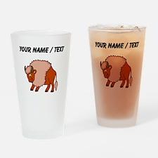 Custom Happy Buffalo Drinking Glass