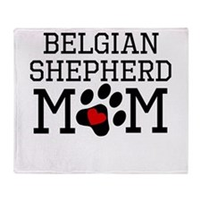 Belgian Shepherd Mom Throw Blanket