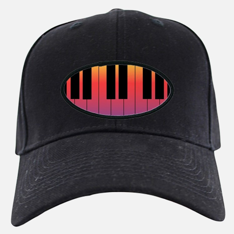 Fiery Piano Baseball Hat