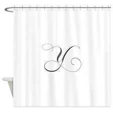 Y-cho gray Shower Curtain