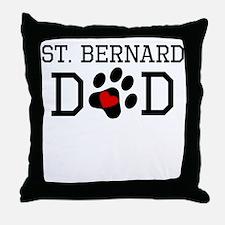 St. Bernard Dad Throw Pillow